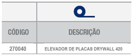 elevador de placas sobre o produto