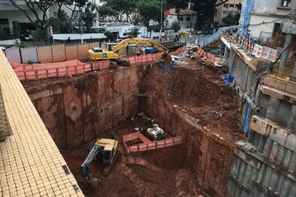 Execução das obras estruturais do complexo