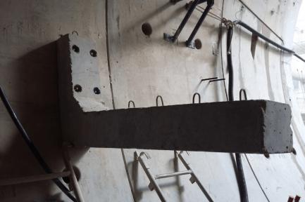 Fixação do suporte pré-moldado e passarela pronta